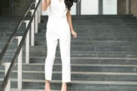 a jumpsuit is a great for casual bridal look