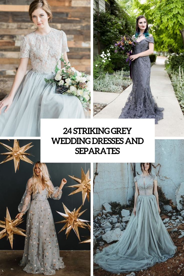 striking grey wedding dresses and separates cover