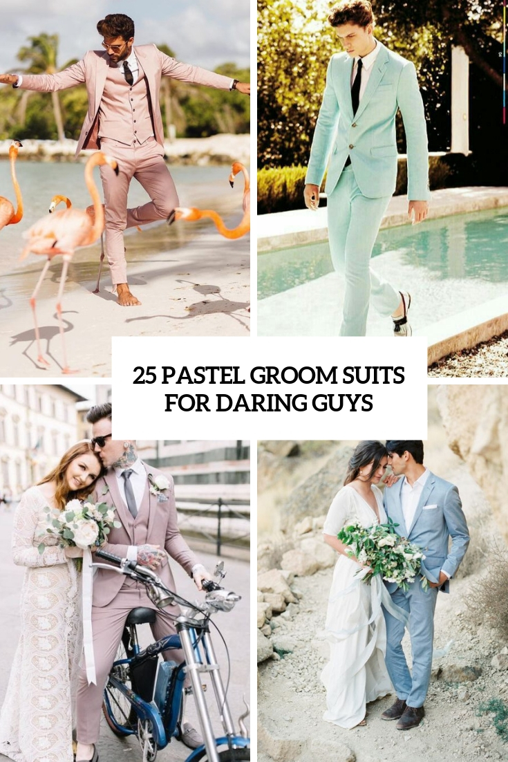 25 Pastel Groom Suits For Daring Guys