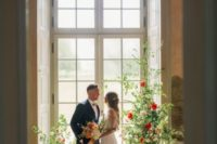 This wedding shoot took place at a unique 18th century castle in Germany