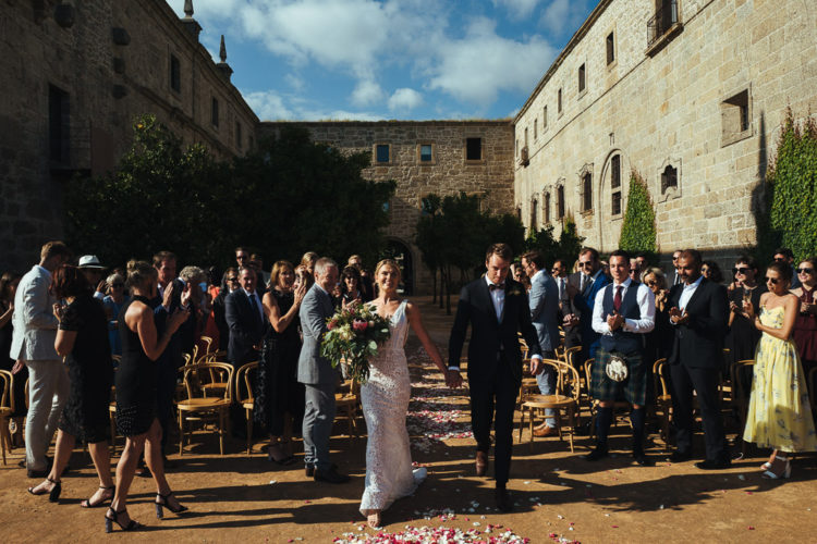This couple went for a destination wedding in Portugal, which took place in a 12th century monastery