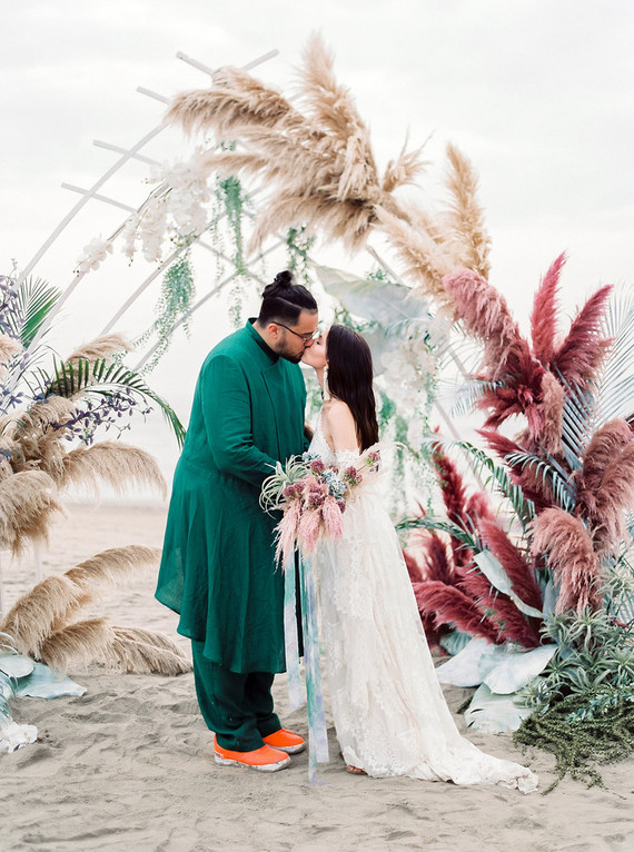 Eclectic Colorful Boho Beach Wedding In Goa