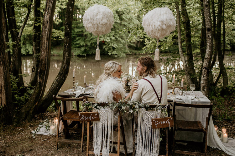 Eco-Friendly Wedding Shoot With Woodland Boho Luxe Theme