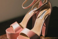 03 Her shoes were pink platform ones to match the girlish yet bold look