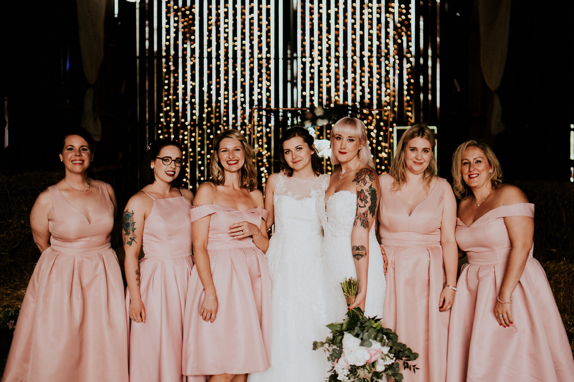 pink dresses are perfect for a wedding
