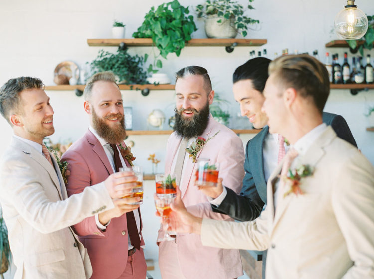 Lovely cocktails and shooters were created right for this wedding shoot