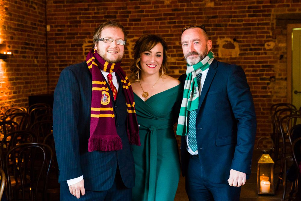 The guests also dressed up in jewel tones and highlighted the theme of the wedding