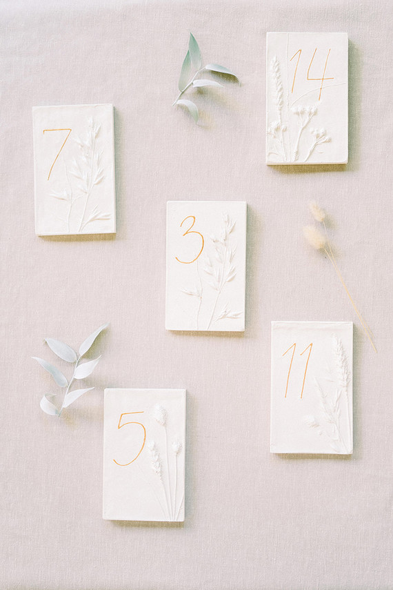 The wedding stationary was done with botanicals
