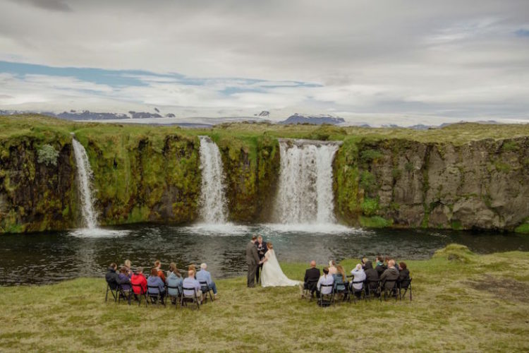 The ceremony was intimate and simple, who needs decor when there's such a backdrop