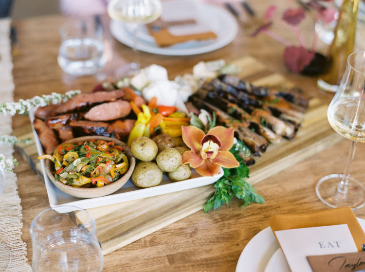 There were lots of appetizers and tasty food created for the shoot