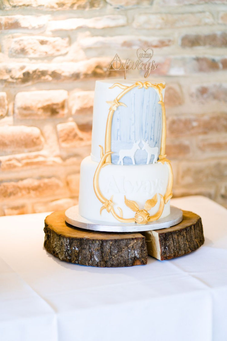 The wedding cake was a patronum one