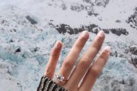 17 a unique diamond ring shaped as a snowflake for a winter proposal in the mountains – it will remind you of the location