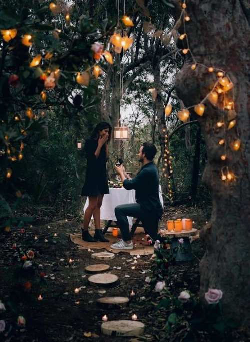 think of what you are going to do afterwards, layer a table for a romantic picnic or plan a trip
