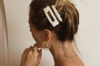 24 faux pearl hair clips like these ones combine two trends in one – pearls and hair clips