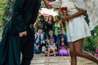 a stylish halloween wedding