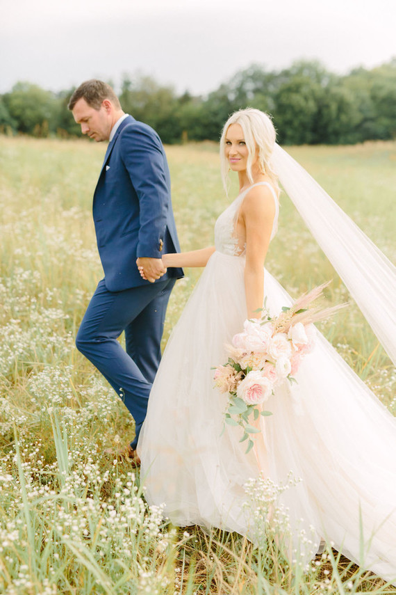 Blush And White Wedding Planned In Three Months