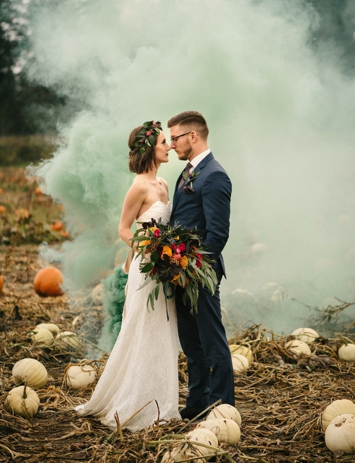 Rich-Toned Harvest-Inspired Wedding Shoot