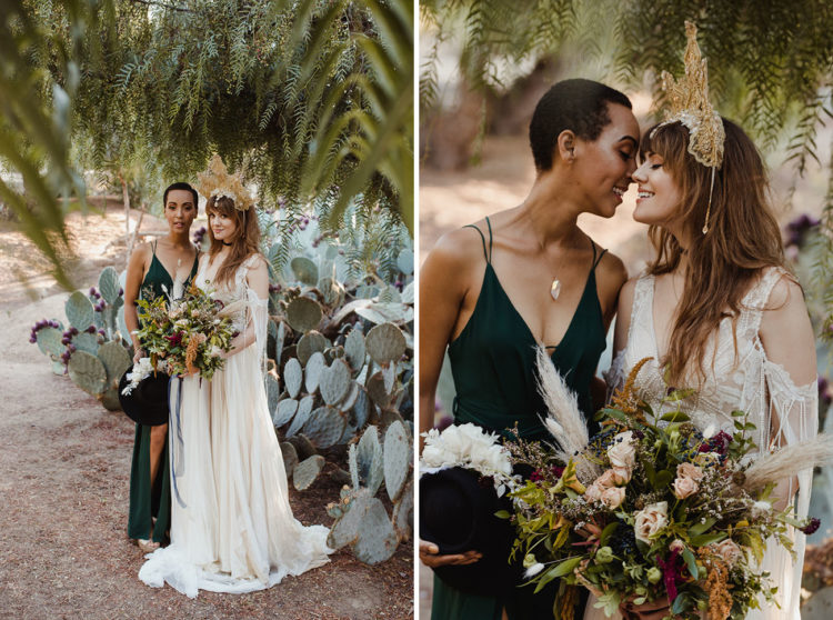 wedding bouqet with pampas grass