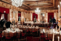 08 The venue was super refined and chic, with gorgeous crystal chandeleirs and red curtains