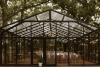 08 The wedding reception took place in a glasshouse that was opened to outdoors as much as possible