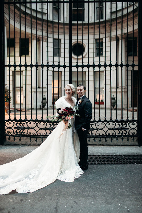 All the NYC beauty and luxury were presented at this wedding