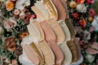 11 The spectacular wedding cake was a buttercream one, with pastel and gold brushstrokes for a catchy look