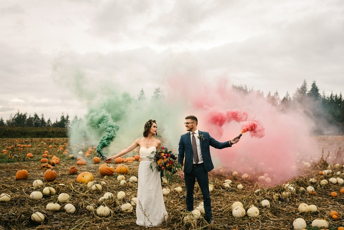 What a cool wedding shoot with plenty of rich colors