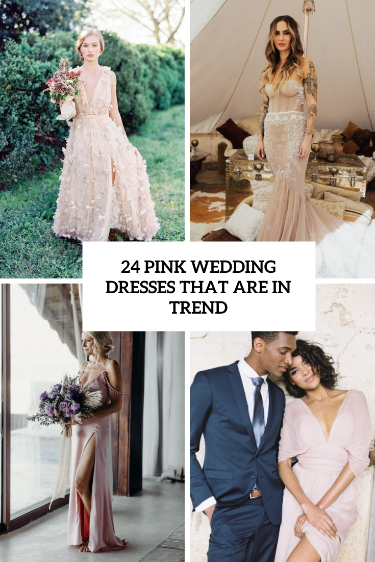 pink wedding dresses that are in trend cover