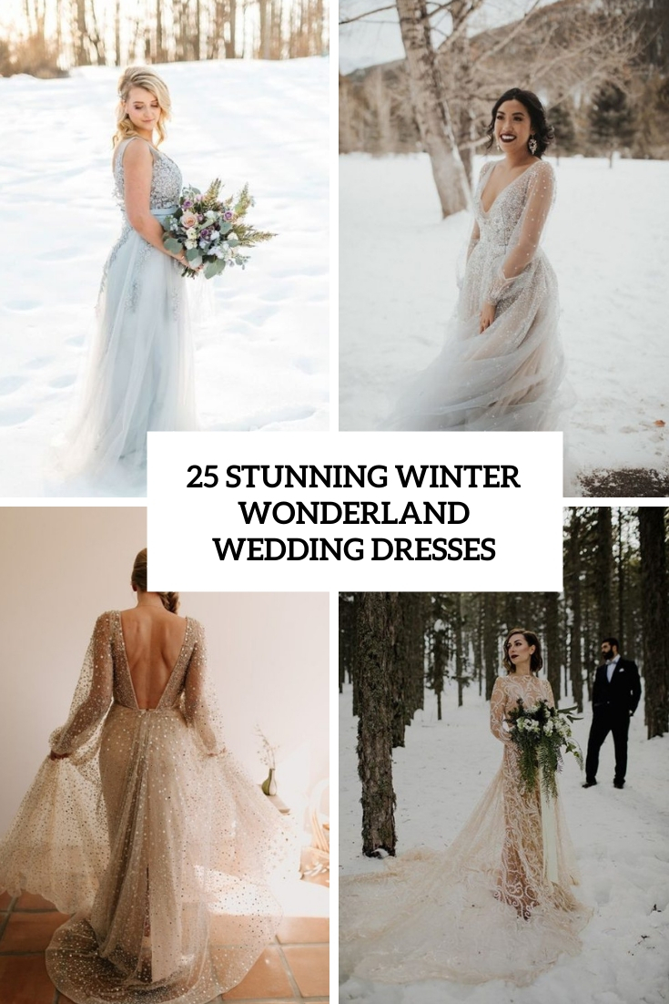 stunning winter wonderland wedding dresses cover