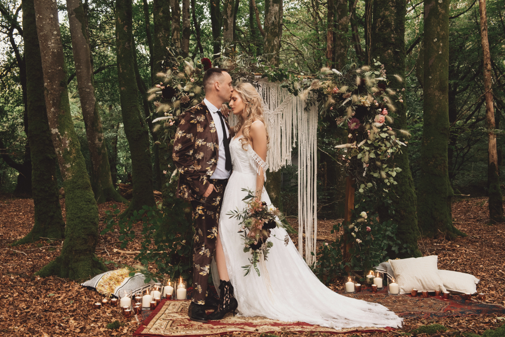 This moody woodland wedding shoot featured some hot trends that will be on next year