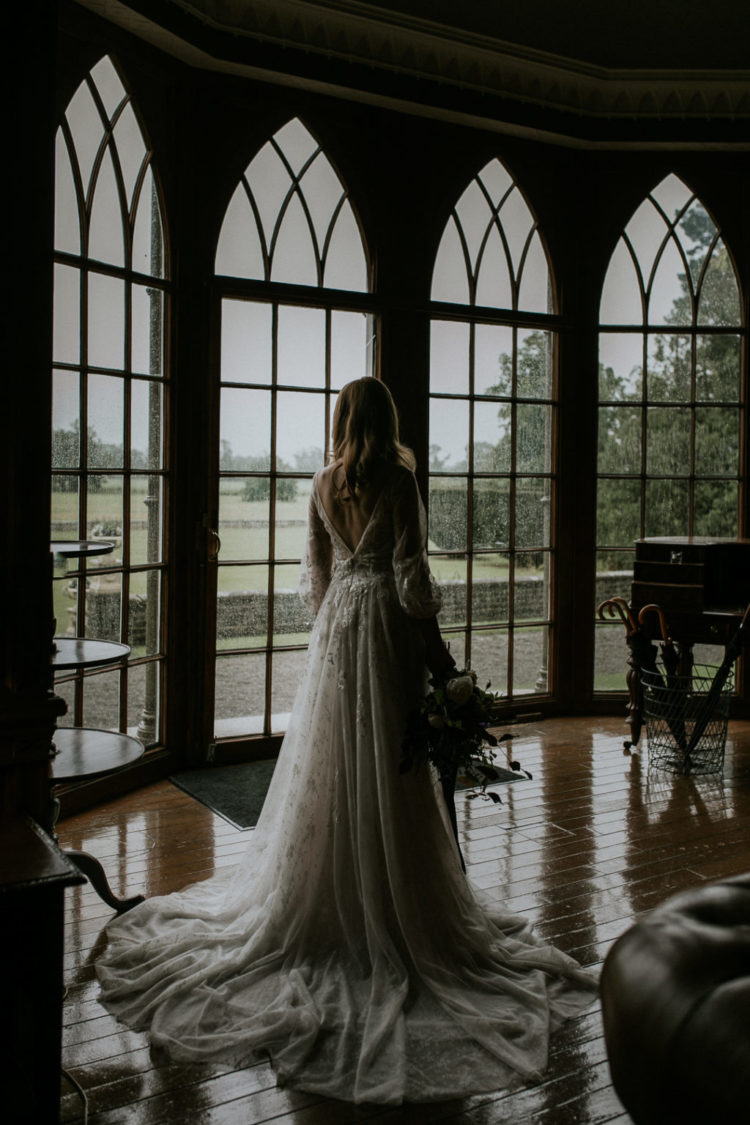 Moody Winter Wedding Shoot At A Castle