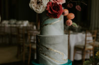 gorgeous marble wedding cake