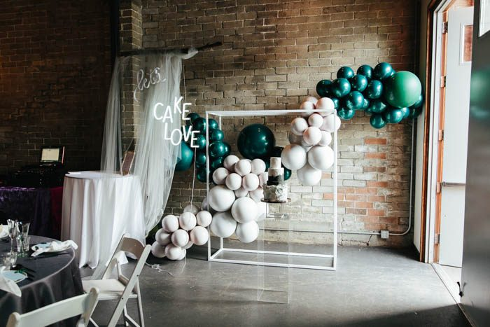 The wedding reception was done ultra-modern and included white and emerald - the traditional Moher colors
