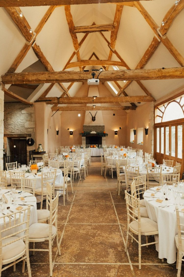 The venue was rustic and helped to embrace the season