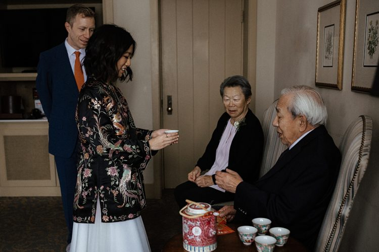There was a poignant tea ceremony, which is traditional for the bride's culture