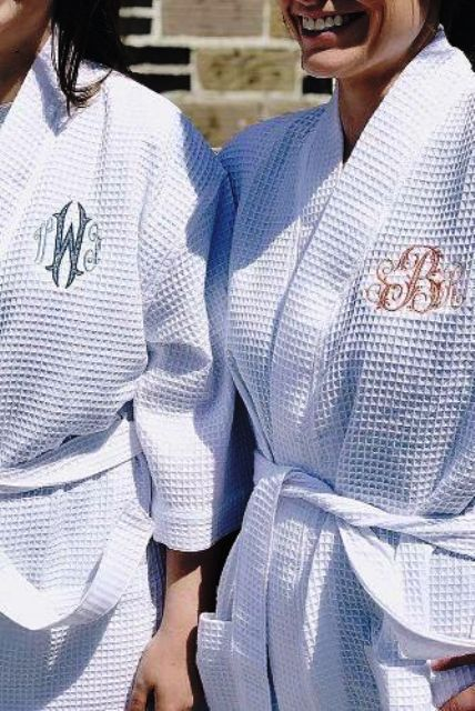personalized embroidered bath robes are amazing for every couple, choose sizes right