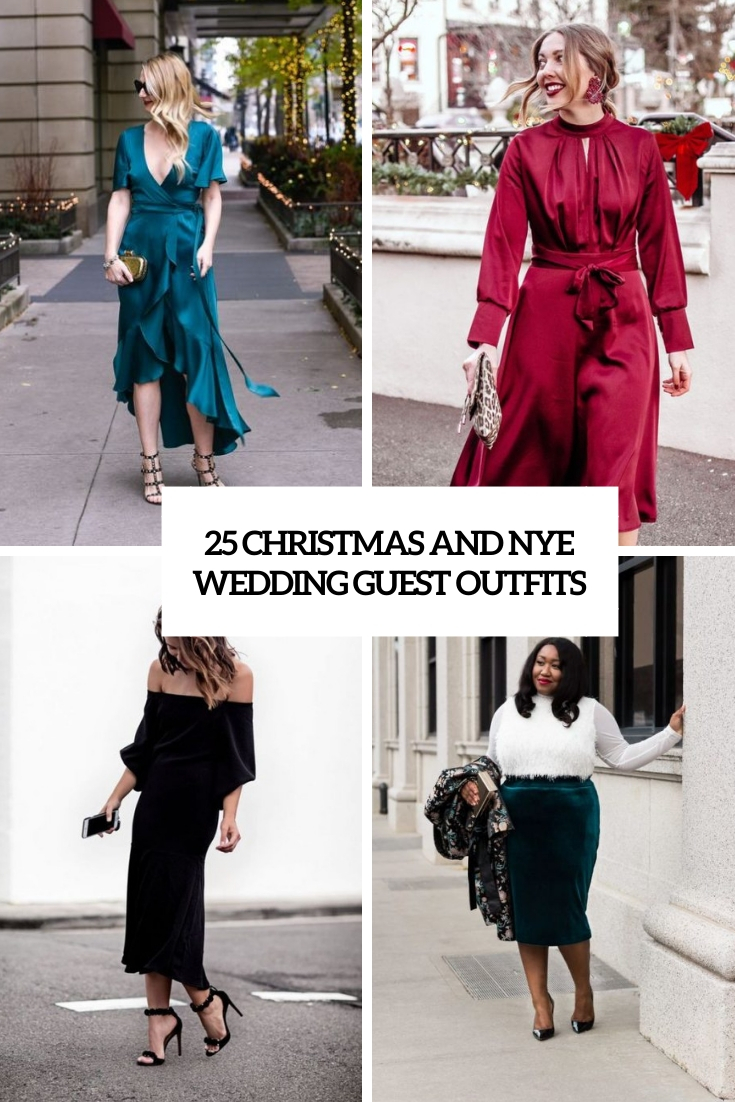 25 Christmas And NYE Wedding Guest Outfits