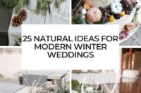 25 natural ideas for modern winter weddings cover