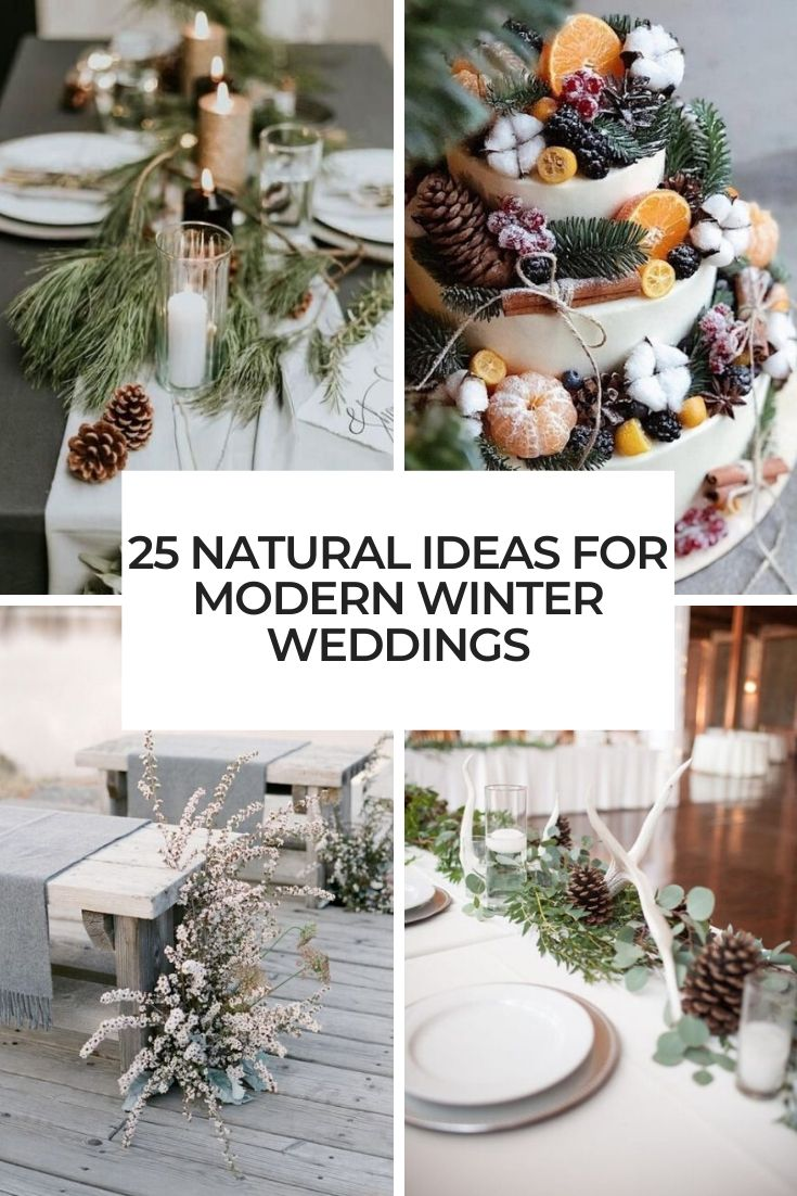 natural ideas for modern winter weddings cover