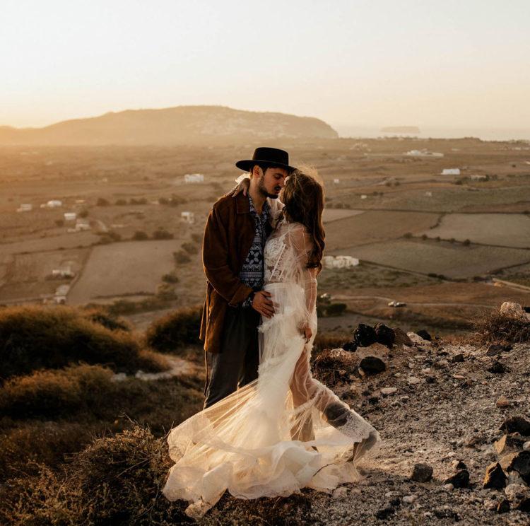 Rock'N'Roll Fashion-Forward Wedding Shoot
