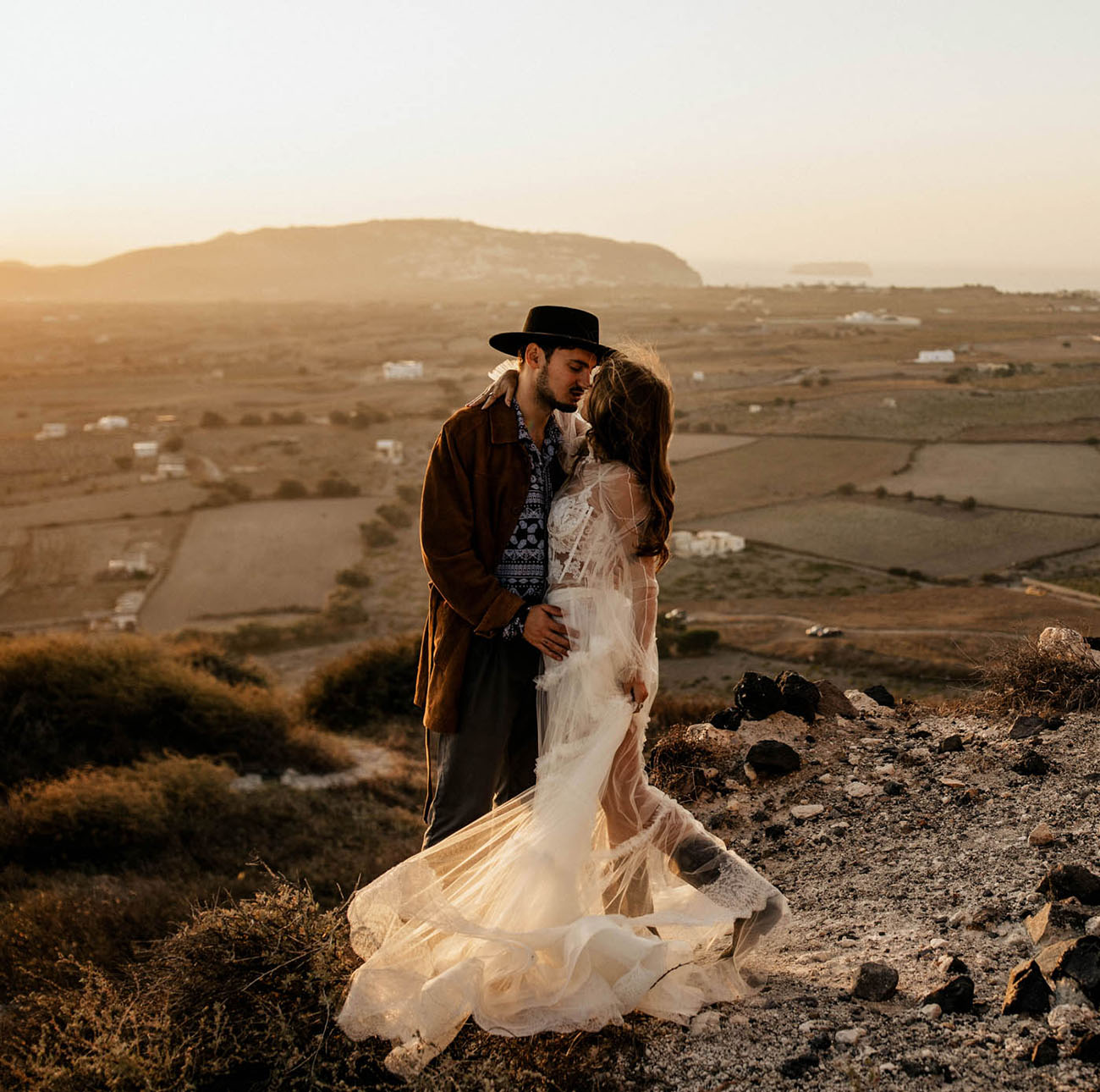 This fashion forward wedding shoot is inspired by rock'n'roll and all things boho and wild