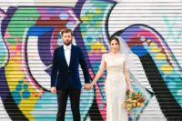 01 This graffiti-filled urban wedding was planned in only 3 months and it was gorgeous