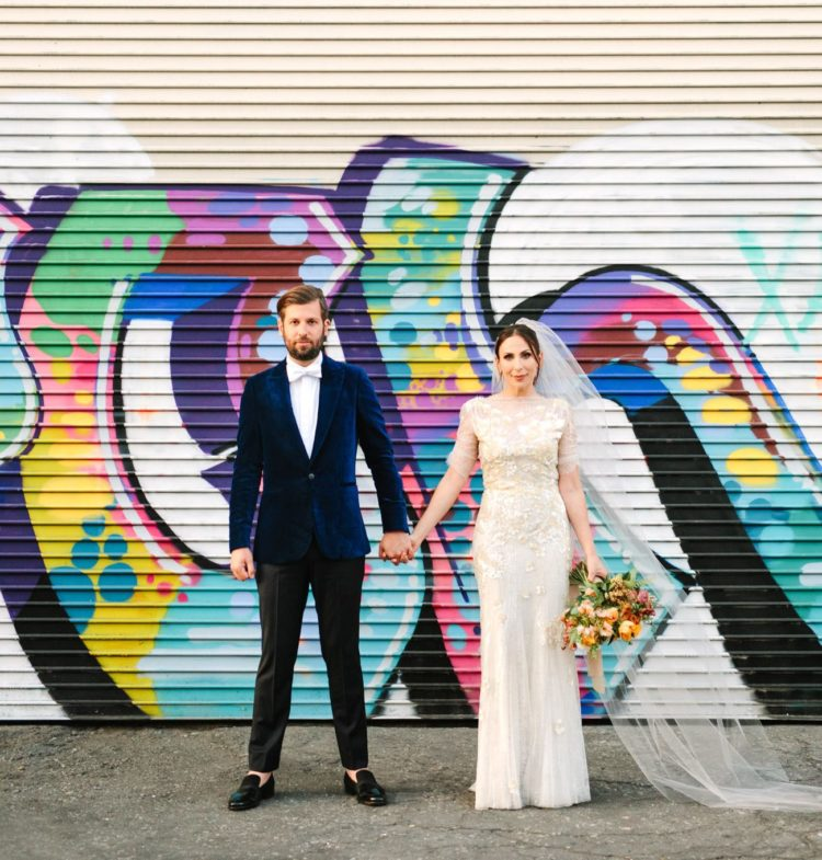This graffiti filled urban wedding was planned in only 3 months and it was gorgeous