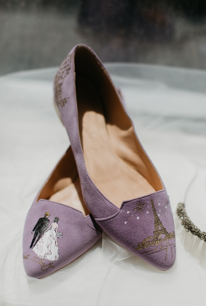 Look at the whimsical wedding shoes - they were created  right for the bride