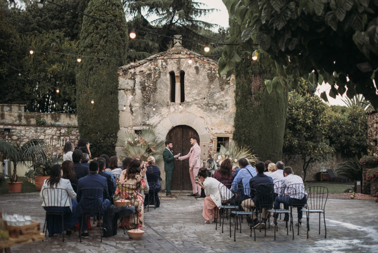 The ceremony took place in a 15th century family home in Barcelona