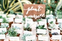 03 mini succulents in pots are a nice sustainable wedding favor idea for your wedding
