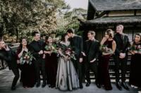 05 The groom and groomsmen were wearing black, and guys were rocking burgundy velvet ties