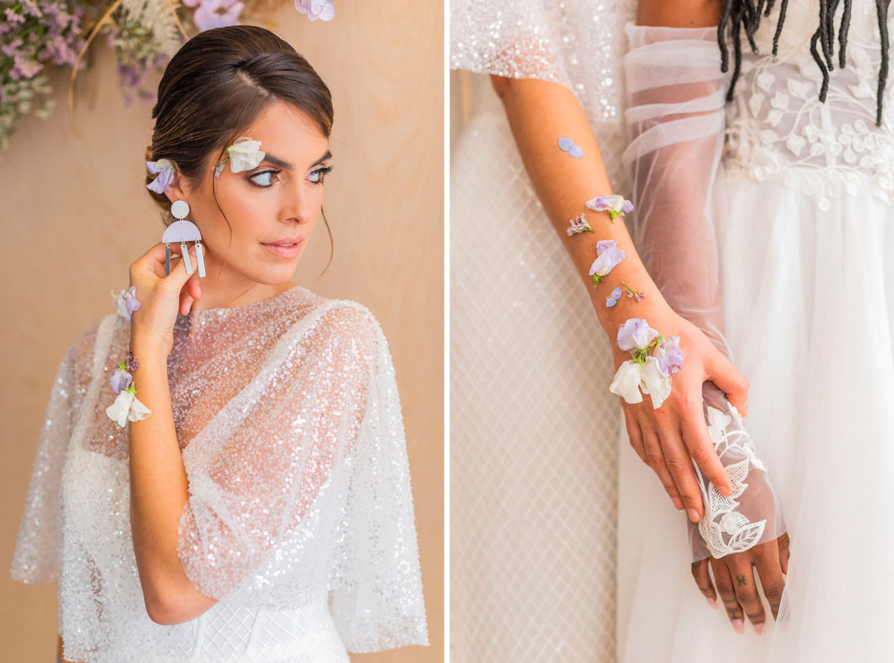 You can see fresh blooms everywhere   what a lovely idea for a spring wedding