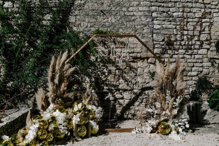 The decor was lovely and lushh, with blush blooms, gold and feathers for an ultimate touch