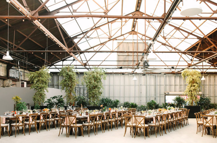 There was so much greenery that the venue didn't feel industrial at all